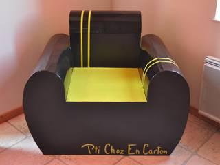 Fauteuil Club en Carton par Pti Choz En Carton Éclectique
