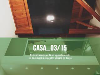 Casa_03/15 - Ristrutturazione di un appartamento su due livelli di Cibelli+Guadagno architetti associati Minimalista