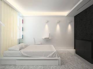 Квартира в ЖК Московский Dmitriy Khanin Спальня в стиле минимализм