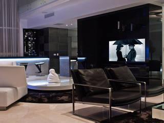 Torre Aura Altitud Salas multimedia modernas de STUDIO ALMEIDA DESIGN Moderno