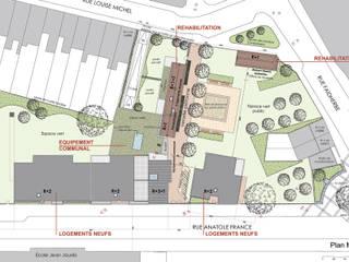Plan masse:  de style  par Atelier d'architecture La Licorne