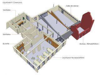 Perspective - Equipement communal:  de style  par Atelier d'architecture La Licorne