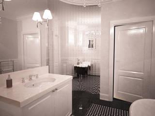 Łazienka w stylu glamour Klasyczna łazienka od Axentim Klasyczny