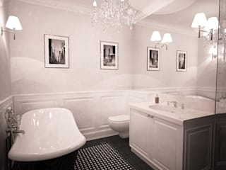 Łazienka w stylu glamour: styl , w kategorii Łazienka zaprojektowany przez Axentim