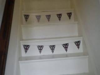 British Union Jack Bunting Wall Stickers:  Corridor & hallway by The Binary Box