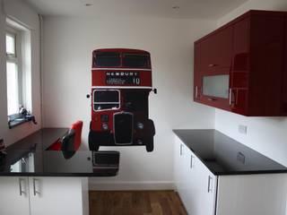 British Bus Wall Sticker:  Kitchen by The Binary Box