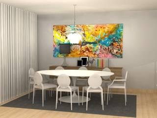 ห้องทานข้าว โดย Santiago   Interior Design Studio , โมเดิร์น