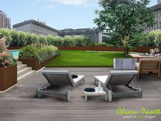 I miei Render: Giardino in stile  di Chiara Pasetti Graphic&Green Designer