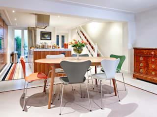 Stripes and borders in London town house Modern dining room by Warp & Weft (uk) Ltd Modern