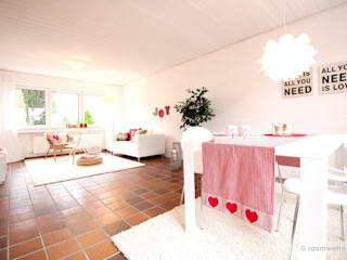 Wiejski salon od raumwerte Home Staging Wiejski