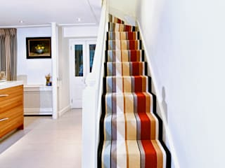 Stripes and borders in London town house: modern  by Warp & Weft (uk) Ltd, Modern