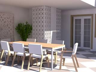 ระเบียง, นอกชาน โดย Santiago   Interior Design Studio , เมดิเตอร์เรเนียน