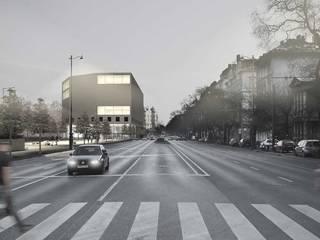Liget Wettbewerb:  Museen von Studio Gabor Gyenese