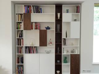 B&W Bookcase:   by David Watson Cabinet Maker