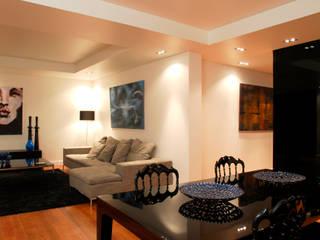 Reabilitação Apartamento Chiado: Salas de estar  por Architecture Tote Ser,Moderno