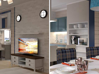Salas de estilo rural de Center of interior design Rural