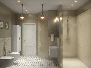 Center of interior design Baños de estilo clásico