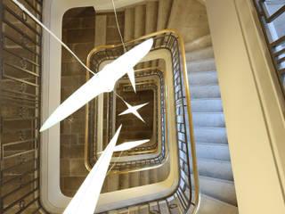Métamorphose environnementale d'un immeuble de bureaux Parisien octavio & co Espaces de bureaux modernes