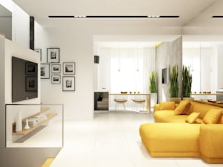 Minimalist living room by Антон Гришин Частный Дизайнер Интерьера Minimalist