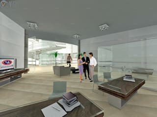 Ruang Studi/Kantor Modern Oleh ARQUITECTO - JESUS A. MARTINEZ LARA Modern