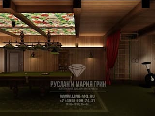 Gimnasios en casa de estilo clásico de Студия дизайна интерьера Руслана и Марии Грин Clásico