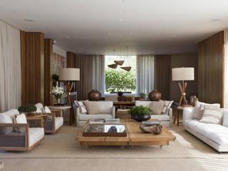 Residência Quinta da Baronesa Salas de estar modernas por Débora Aguiar Moderno