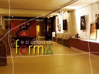 Ristrutturazione vecchio cascinale da destinare  a galleria d'arte e per l'organizzazione di eventi.: Sala da pranzo in stile  di Studio associato Busi Bini e Fava