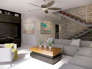 E2 LIVING ROOM Minimalist living room by arQing Minimalist