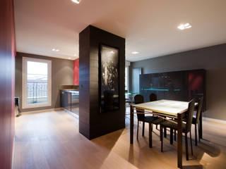 cuisine totem Salle à manger moderne par LA CUISINE DANS LE BAIN SK CONCEPT Moderne