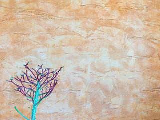 Spatolato grezzo in oro pallido e rame...:  in stile  di Milani Iurisevic decorazioni