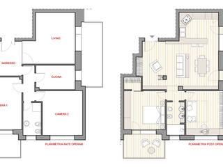 Planimetrie ante/post operam:  in stile  di Silvia Panaro Architettura e Design