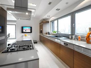 CZAR GEOMETRII: styl , w kategorii Kuchnia zaprojektowany przez Pracownia projektowa artMOKO