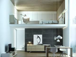 Гостиная в скандинавском стиле от Muebles Capsir Скандинавский