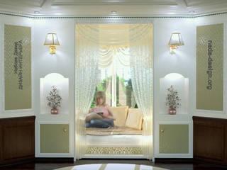 Nada-Design Студия дизайна. Balcone, Veranda & Terrazza in stile classico