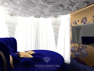 Cuartos de estilo moderno de Студия дизайна интерьера Руслана и Марии Грин Moderno
