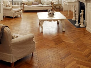 Oak Aged Pre-oiled Parquet:  Walls & flooring by The Natural Wood Floor Company