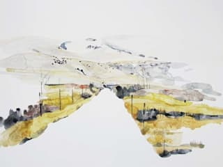 Kate Evans - The Rail Road - Watercolour and Watercolour Pastel - 78 x 95 cm - £1,100:   by Antlers Gallery