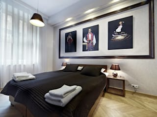 オリジナルスタイルの 寝室 の Pracownia projektowa artMOKO オリジナル
