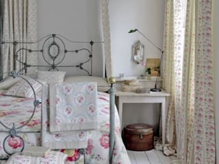 Clarke and Clarke - Romance Fabric Collection Cuartos de estilo rural de Curtains Made Simple Rural