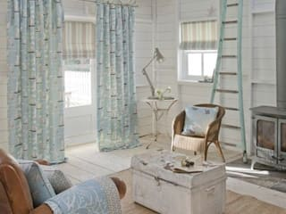 Clarke and Clarke - Maritime Prints Fabric Collection Curtains Made Simple 客廳