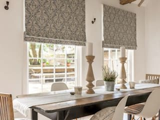Clarke and Clarke - Manor House Fabric Collection: classic Dining room by Curtains Made Simple