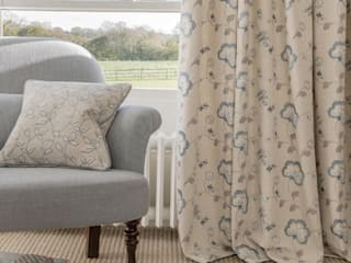 Clarke and Clarke - Manor House Fabric Collection: classic Living room by Curtains Made Simple