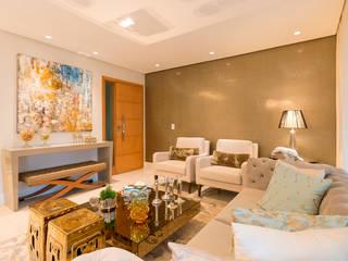 Apartamento Le Parc I Salas de estar ecléticas por Dauster Arquitetura Eclético