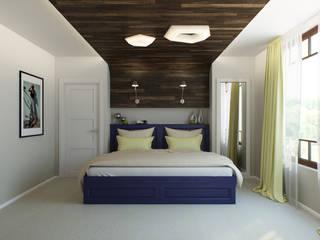 Минималистичный лофт: Спальни в . Автор – Center of interior design