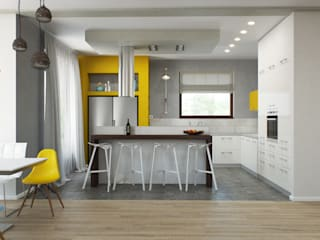 Dapur oleh Center of interior design, Minimalis