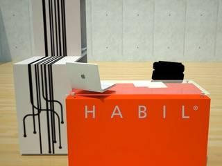 REMODELACIÓN LOBBY HABIL GROUP:  de estilo  por AMÉTRICO ESTUDIO