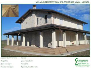 Casa di Legno: Case in stile In stile Country di Galloppini Legnami