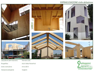 Casa di Legno: Case in stile in stile Moderno di Galloppini Legnami