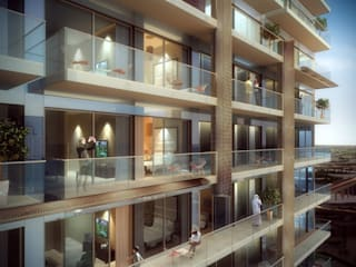 Aedas designs iconic residences at Dubai Marina Modern houses by Architecture by Aedas Modern