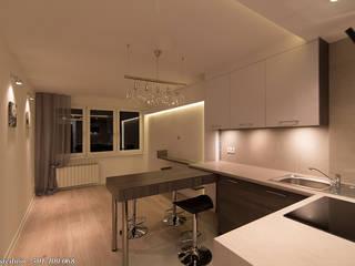 Phòng ăn phong cách tối giản bởi studio wnętrz URBAN-DESIGN Tối giản